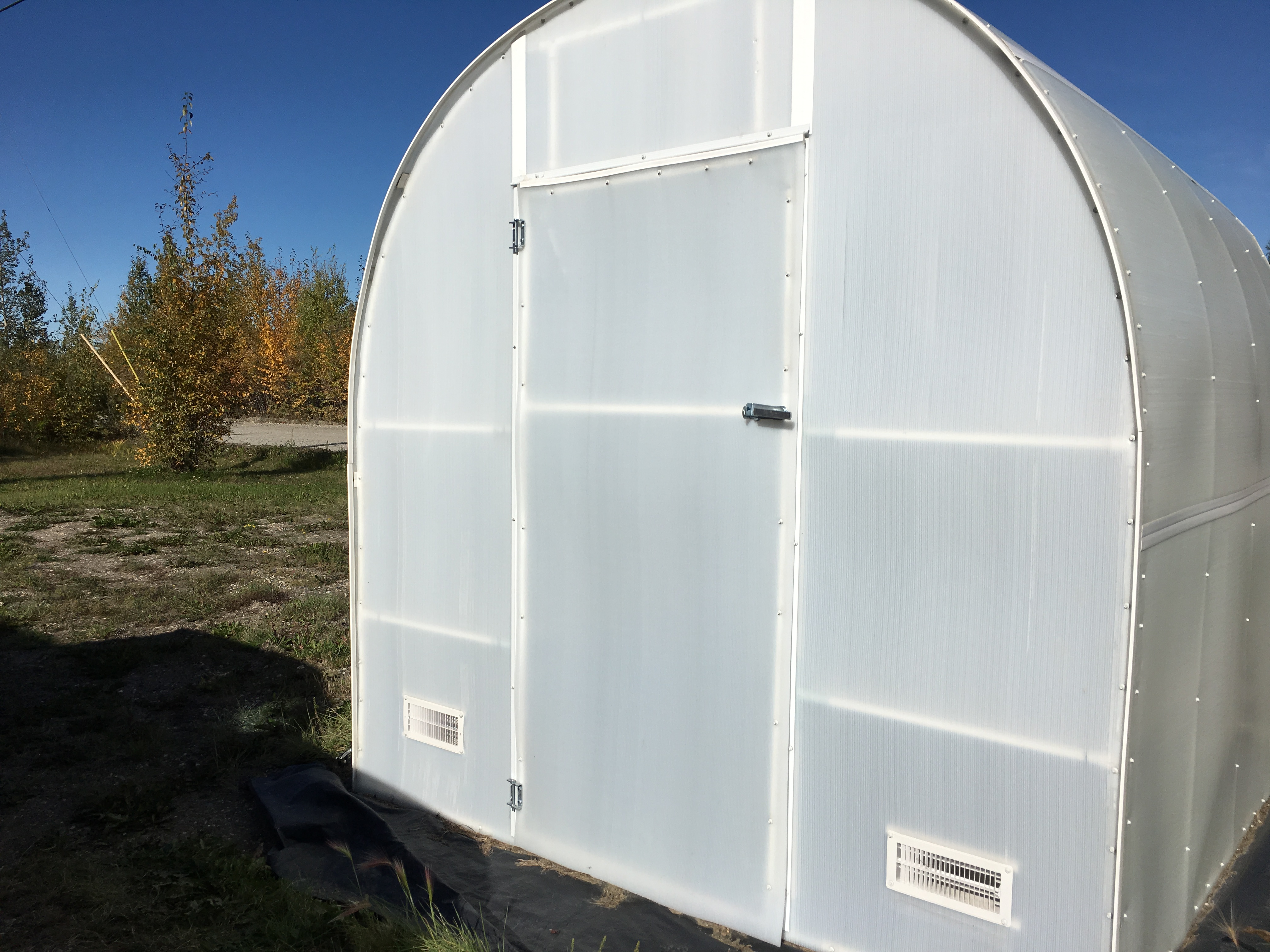 Greenhouse built by Great Northern Sheds